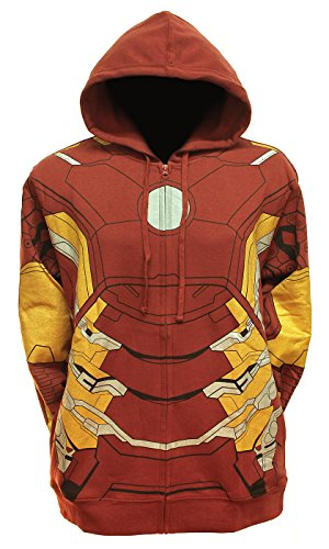(XXL Iron Man Suit Up Fleece Hoody (2XL) Red)