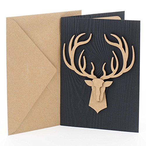 Hallmark Signature Birthday Card for Men (Deer Head)