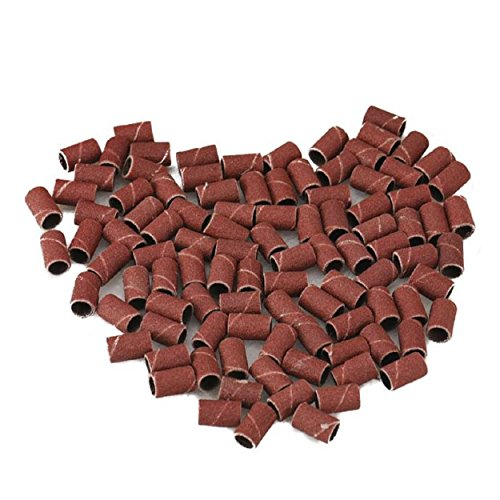 Kingfansion 100Pcs Sanding Bands Drums Sleeves 100Pcs Sanding Bands Drums Sleeves Grits Mandrels For Dremel ToolGrits Mandrels For Dremel Tool (180)