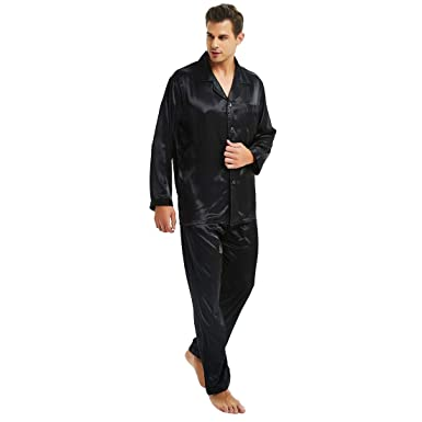 c68fafee47 Mens Silk Satin Pajamas Set S M L XL 2XL 3XL 4XL at Amazon Men s ...