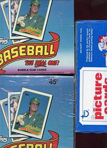 3x 1989 Topps Baseball Wax Pack Box Randy Johnson Craig B...