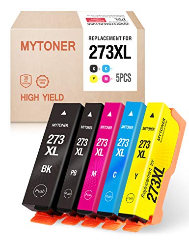 (Mytoner Remanufactured Ink Cartridge Replacement for Epson 273XL 273 XL Ink for Expression XP-600 XP-810 XP-820 XP-520 XP-610 XP-620 XP-800 Printer (Black Cyan Magenta Yellow Photo Black,5-Pack))