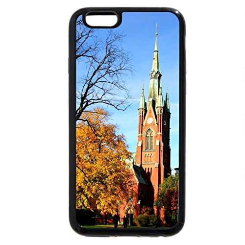 iPhone 6S / iPhone 6 Case (Black) Church in Sweden autumn