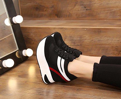 Joker Leisure Verano Muelle negro viaje grueso Zapatos alto Fondo Mujer tacón mujer Alto 10 de de Deporte cm Interior Individuales Zapatos Zapatos de Zapatos GTVERNH HtRPR