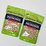 California Grown Premium In-Shell Pistachios, Cracked, Dry Roasted with Sea Salt, 2-Pack
