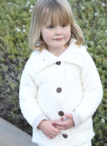 Barefoot Dreams CozyChic Toddler Cardigan (2T / 3T, CREAM / STONE)