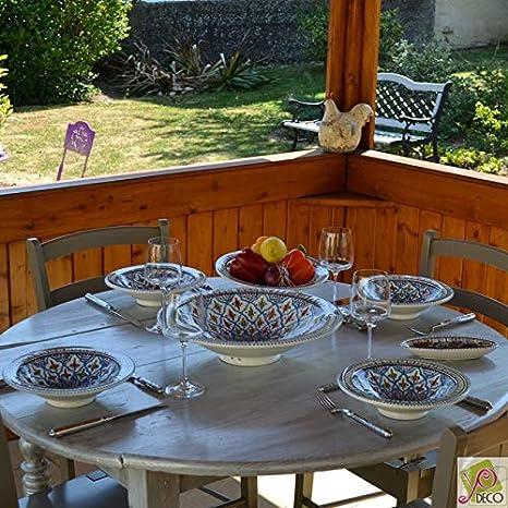 /D 20/cm YODECO Teller mit Eingang oder Dessert Marokkanischer t/ürkis/