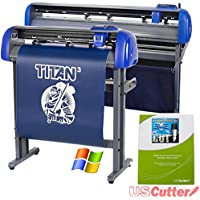 28 USCutter TITAN 3 Vinyl Cutter with Servo Motor and ARMS Contour Cutting Plus Design/Cut Software