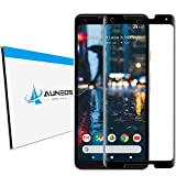 Pixel 2XL Screen Protector Tempered Glass [3D Edge Curved] AUNEOS Full Adhesive Tempered Glass for Google Pixel 2 XL [Anti Shatter] [HD 0.20mm] 3.5D Full Edge Screen Coverage (Black)