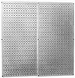 Wall Control 30-P-3232GV Galvanized Steel Pegboard