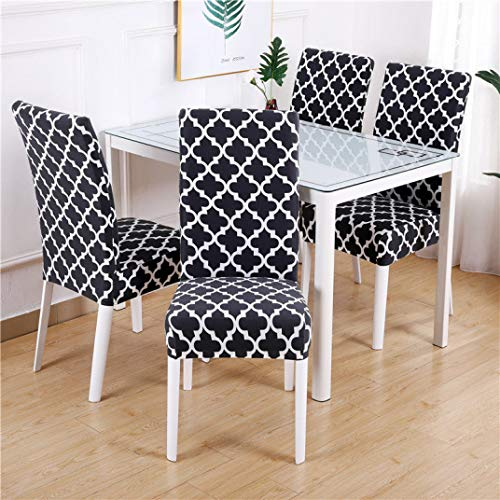 ANOSORA Kitchen Chair Covers Spandex Dining Furniture Cover Anti-Dust Wedding Parson Seat Slipcover (Dining Table Extending Cream)