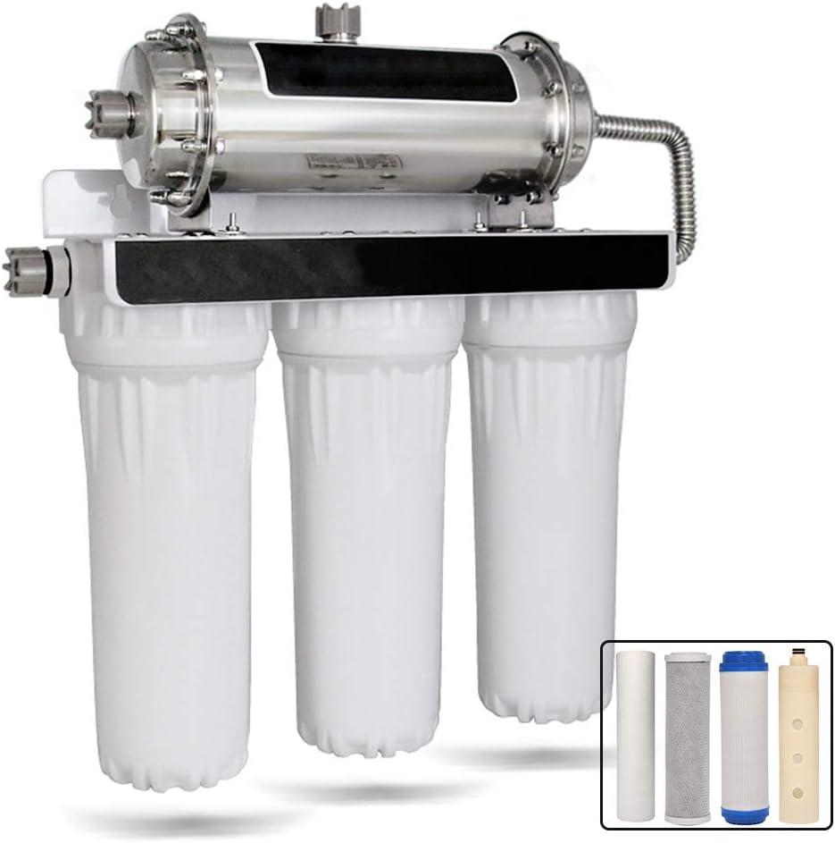 Osmosis Inversa Sistema De Filtración De Agua, 4 Etapa Purificador De Agua RO Equipo Filtro De Agua Potable GL12-04: Amazon.es: Deportes y aire libre