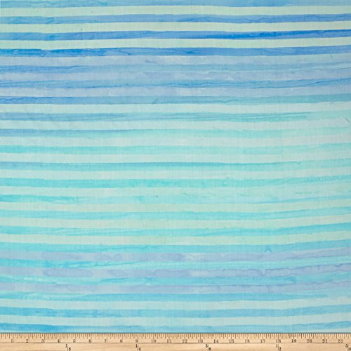 Kaufman Batiks Elementals Stripes Water Fabric by The Yard