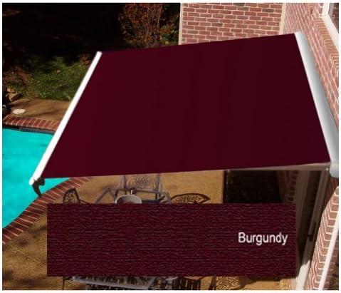 Awntech Beauty-Mark Destin LX, 14 Manual Retractable Awning, Burgundy