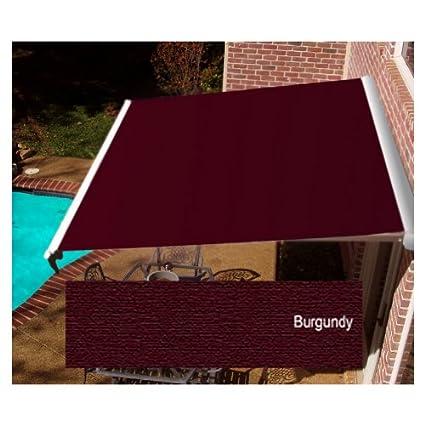 Awntech Beauty Mark Destin LX 14 Manual Retractable Awning Burgundy