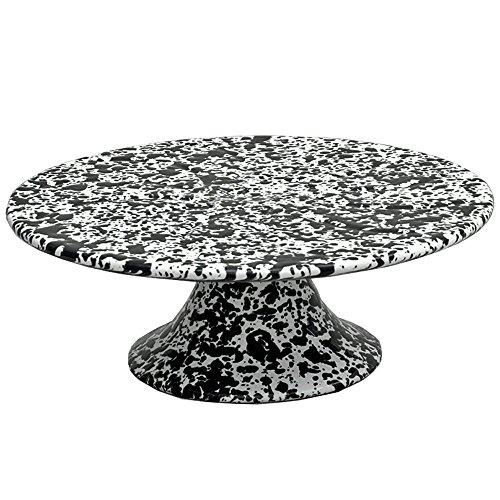 CGS Enamelware Cake Stand - Black Marble