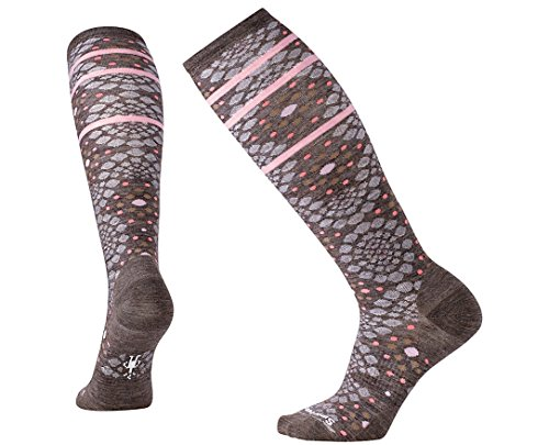 SmartWool Women's Pompeii Pebble Knee High Socks (Taupe Heather) - Socks Smartwool Knee