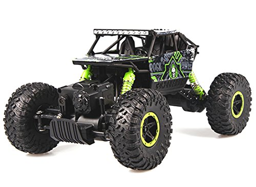 Bo Toys 1:18 Rock Crawler 2.4Ghz Remote Control Car 4WD Off Road RC Monster Truck Green