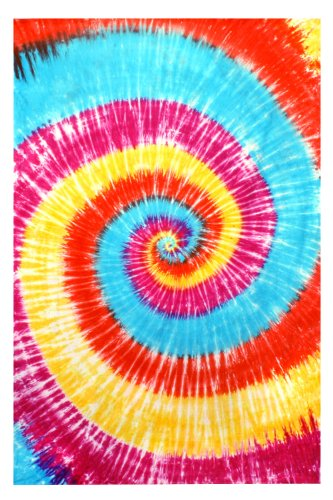Sunshine Joy Spiral Tie-Dye Tapestry Table Cloth 60x90 Inches -