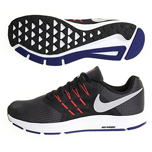 Nike Zapatillas de Running Run Swift Black/Matte Silver Bright Crim, Chaussures de Fitness Mixte Adulte, EU