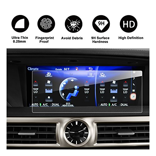RUIYA Lexus GS 200t 350 450H GS F LS 460 500 600 IS 200t 300 350 12.3-Inches Car Navigation Protective Film, Clear Tempered Glass HD and Protect your Eyes