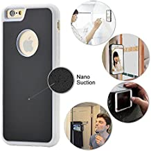 iPhone 6 Plus / iPhone 7 Plus Magic Nano Anti Gravity Phone Case - Can Stick to Glass, Whiteboards, Tile and Smooth Flat Surfaces (White)