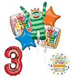 Yo Gabba Gabba 3rd Birthday Party Supplies and Balloon Bouquet Decorations