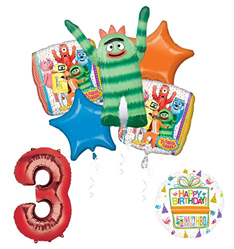 Yo Gabba Gabba 3rd Birthday Party Supplies and Balloon Bouquet Decorations