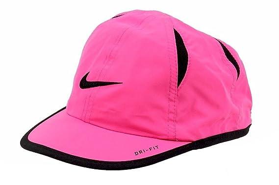 0363368401a Nike Girls Embroidered Swoosh Logo Pink Pow Black Dri-Fit Baseball Cap Sz  4  6X  Amazon.co.uk  Clothing