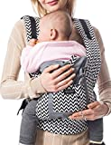 jelly bean baby sling - Vlokup Baby Carrier for Newborn Infant Wrap Toddler Carrier Backpack Grey Chevron
