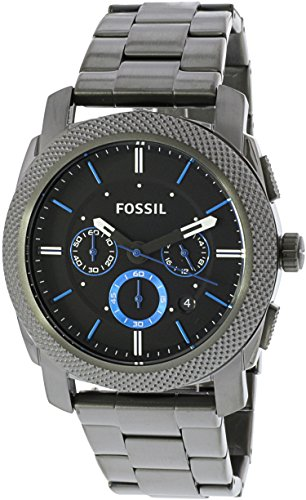 Fossil Men's Machine Quartz Stainless Steel Chronograph Watch, Color: Grey (Model: FS4931)