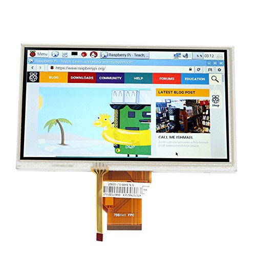 "SainSmart 7"" inch 800480 LCD Display Touch Screen TFT Monito"