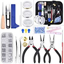 KINCREA Jewelry Making Tools with Jewelry Making Supplies Kit, Jewelry Wires and Jewelry Findings for Jewelry Repair and Beading