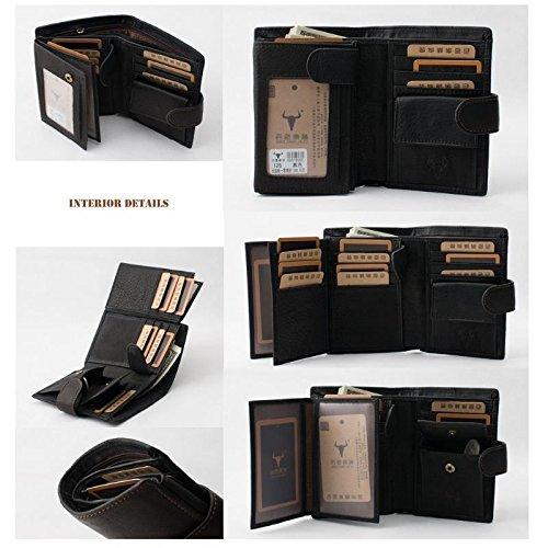 black-mens-genuine-leather-zipper-wallet-purse-id-credit-card-holder-billfold