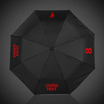 wei Umbrella Football Fans Gift Automatic Umbrella Lluvia o Brillo Doble Uso Paraguas Plegable,Liverpool