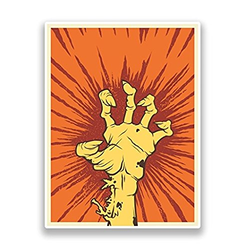 Scary Zombie Hand Vinyl Stickers Halloween Scary - Sticker Graphic - Sticks to Any Smooth Surface - Cars, Walls, Cellphones, Laptops, Windows -