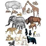 Little Folk Visuals Wild Animals Precut Flannel/Felt Board Figures, 22 Pieces Set