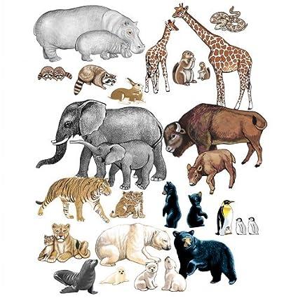 Amazon.com  Little Folk Visuals Wild Animals Precut Flannel Felt ... b390d4b80