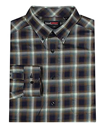 Roundtree & Yorke TravelSMART Men's Big & Tall Wrinkle Resistant Easy-Care Shirt - Blue - 2X Tall