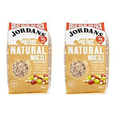 (2 Pack) - Jordans - Natural Muesli | 1000g | 2 PACK BUNDLE: Health & Personal Care