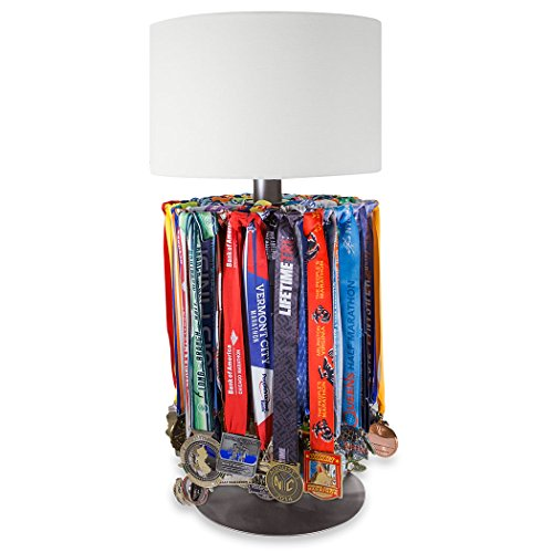ChalkTalkSPORTS Premier Sports Medal Hanger Table Lamp | Medal Display Holds Over 60 ()