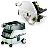 Festool PM561438 Plunge Cut Circular Saw with CT MINI 2.6 Gallon Mobile Dust Extractor For Sale
