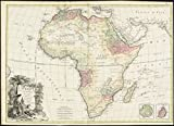 Historic Map | 1778 L'Afrique diviseI?e en ses principaux eI?tats | Antique Vintage Reproduction