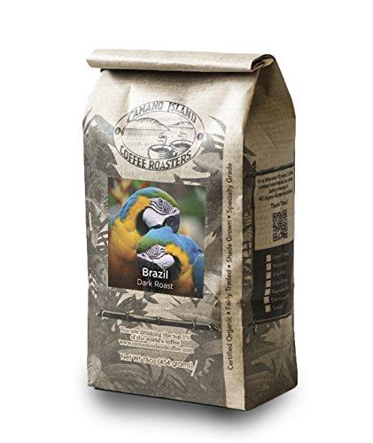 Camano Island Coffee Roasters, Organic Brazil Dark Roast, Whole Bean, 1Lb