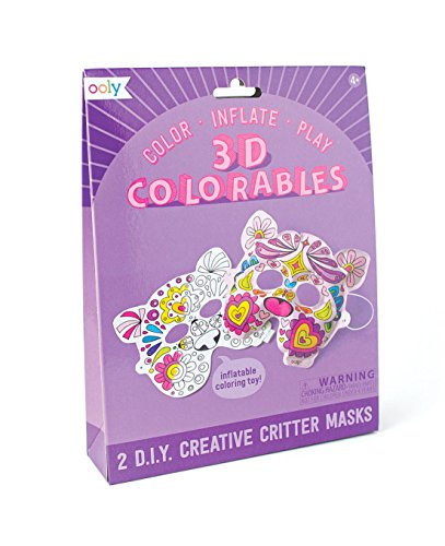 OOLY, 3D Colorables, Creative Critter Masks, Set of 2 Creative Mask