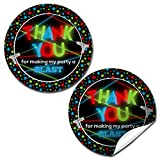 "Laser Tag Birthday Party Sticker Labels, 40 2"" Party Circle Stickers by AmandaCreation, Great for Party Favors, Envelope Seals & Goodie Bags"