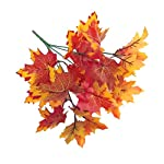 Sunrisee 2 Pcs Artificial Plants Fall Maple Leaf Fake Shrubs Bunches for Home Garden Office Table Windowsill Decor, 11.8''