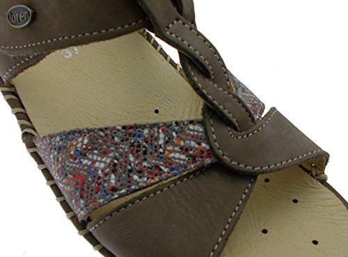 Stor Sandal Taupe M2725 35 Ekstra Ortopedisk Loren Kvinne n46ZE