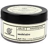 Khadi Natural Sandal and Olive Nourishing Cream, 50g