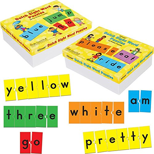 Really Good Stuff EZread Dolch Sight Word Puzzles: Pre-Primer & Primer Kit
